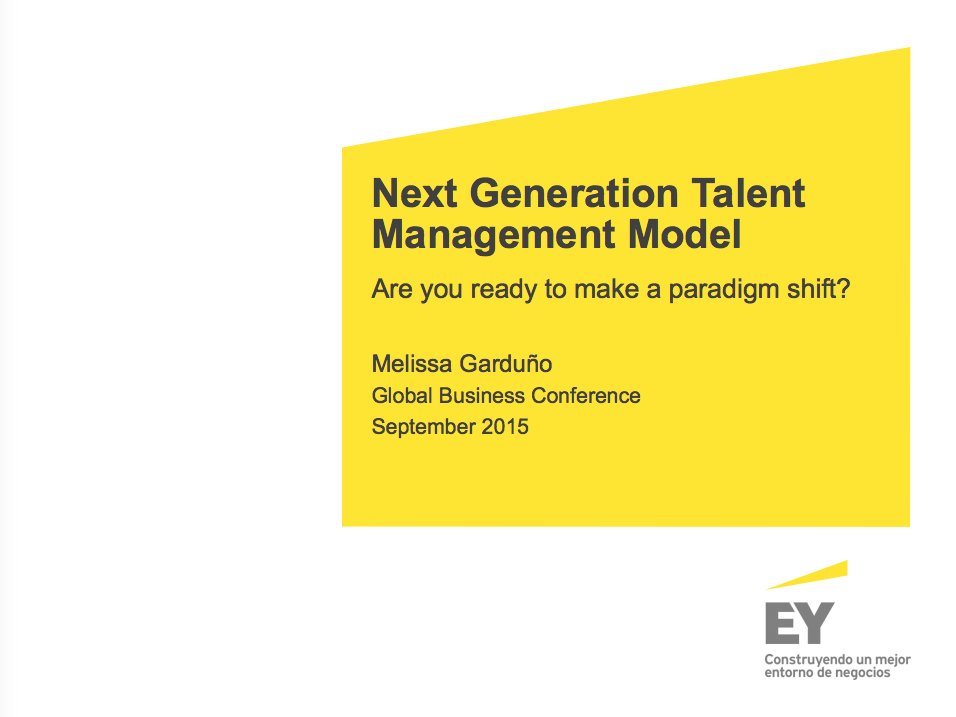 Next Generation Talent Management Model